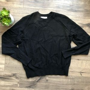 Everlane Black Cashmere Crewneck Sweater S